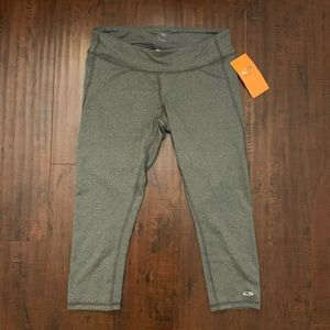 Champion mid-rise grey capri leggings new